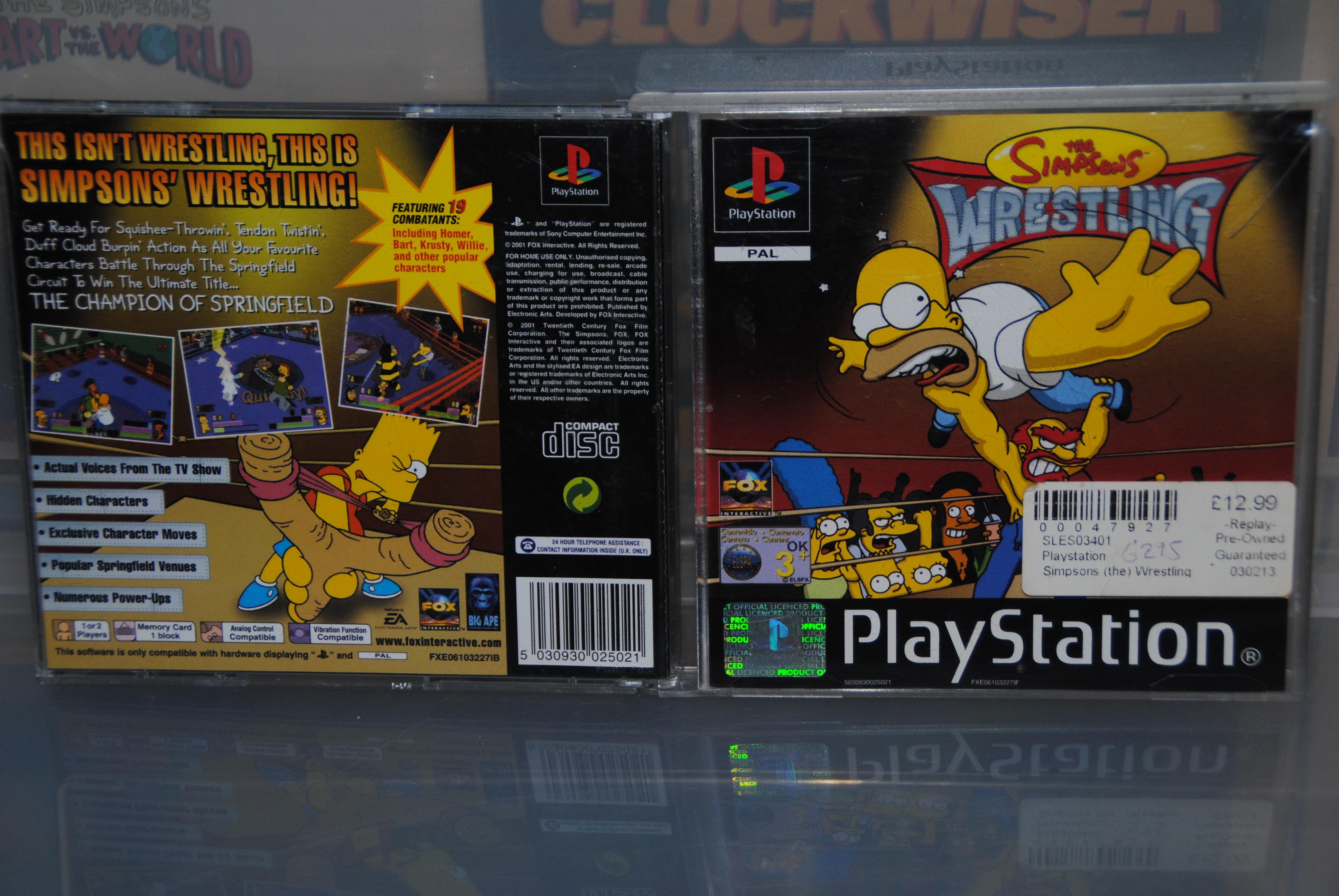 FOX - Simpsons Wrestling Cover