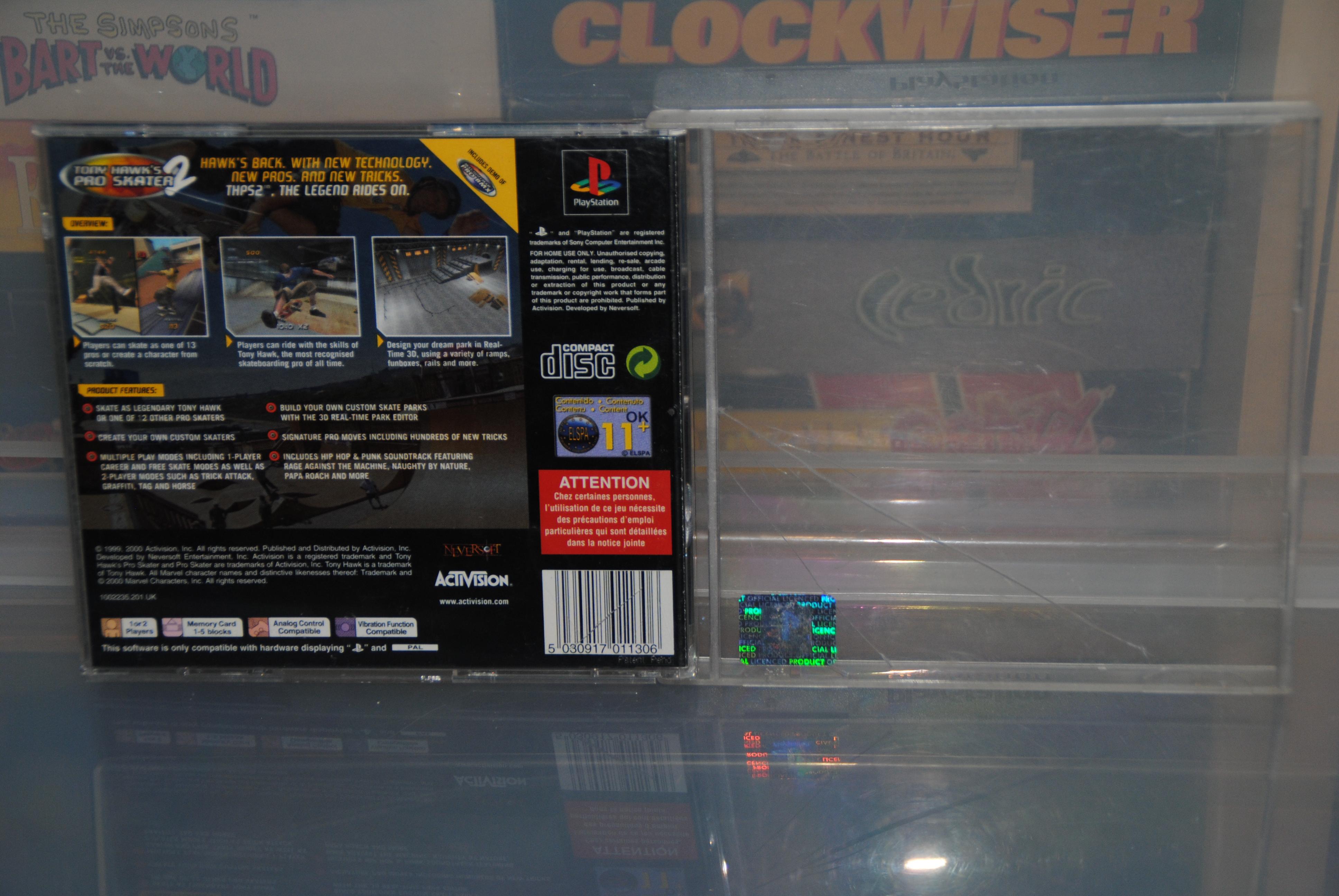 Activision - Tony Hawk Pro Skater 2 Box