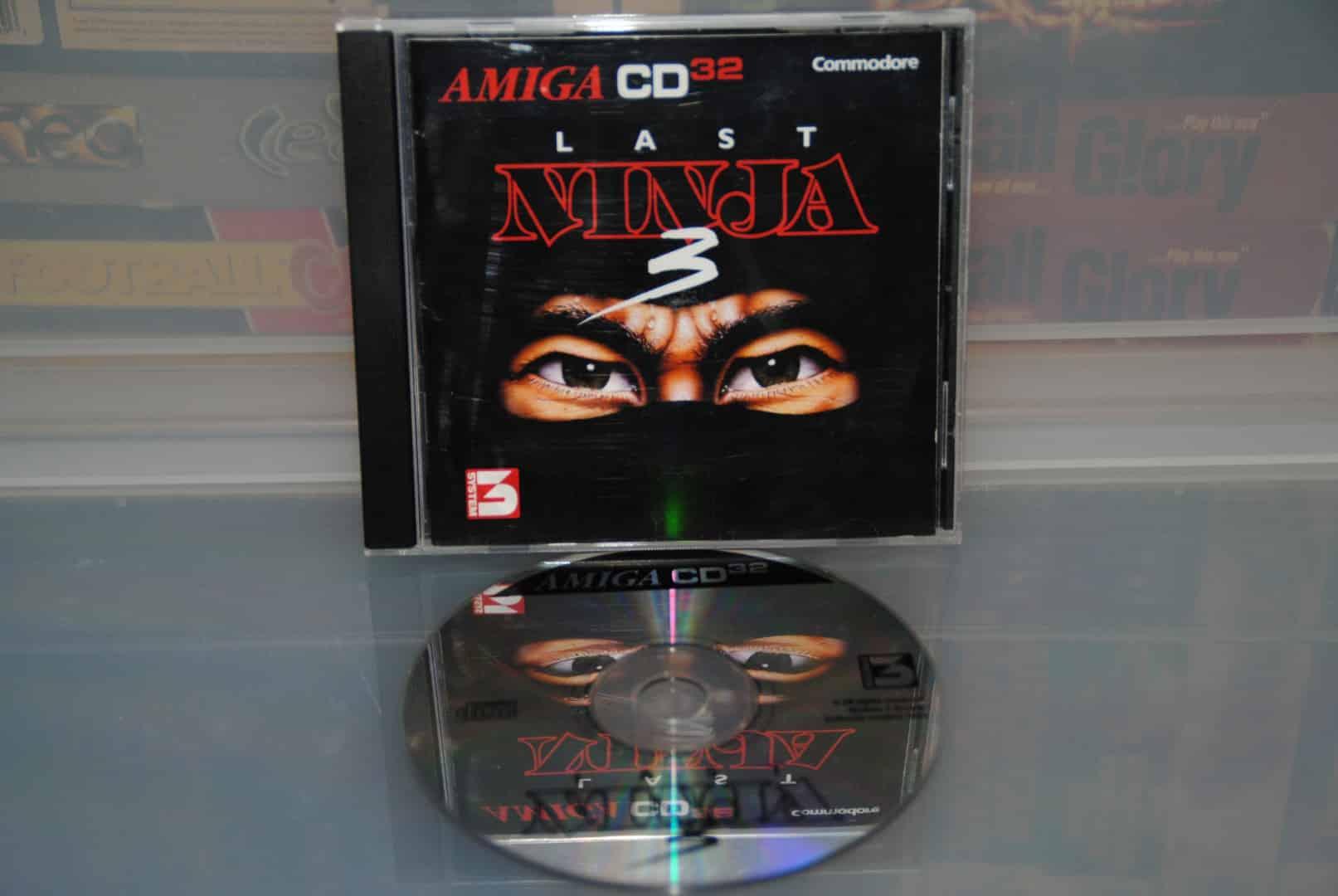 Last Ninja 3 CD32 Front + CD