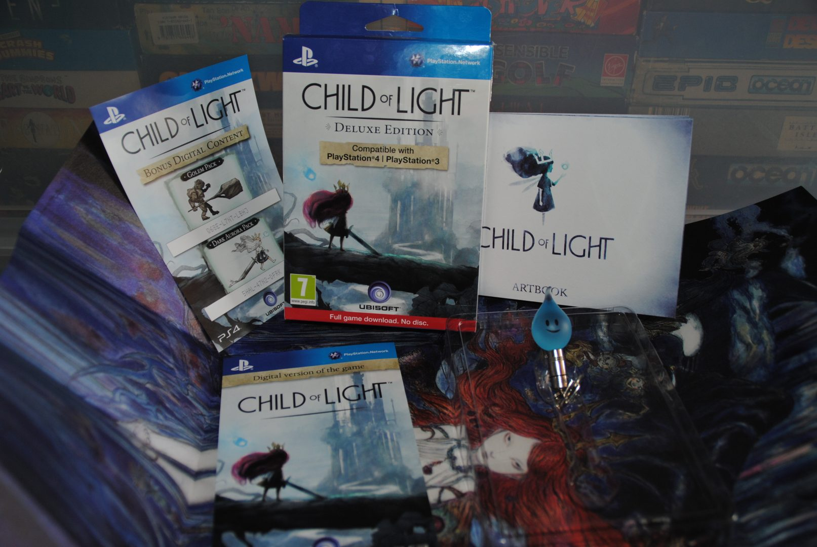 All the stuff inside the retail box. no blu-ray disk was included sadly.