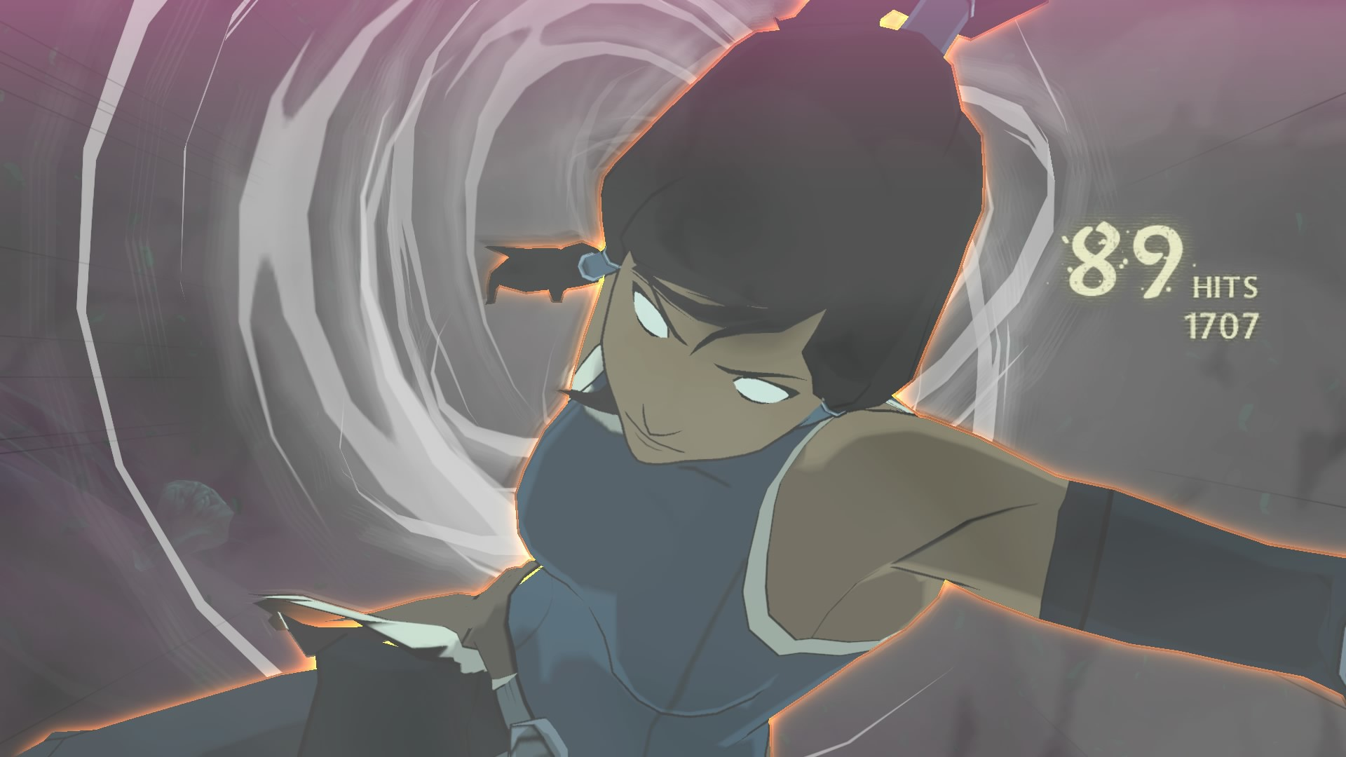 The Legend Of Korra offers very clean graphics, a cell shaded beauty.
