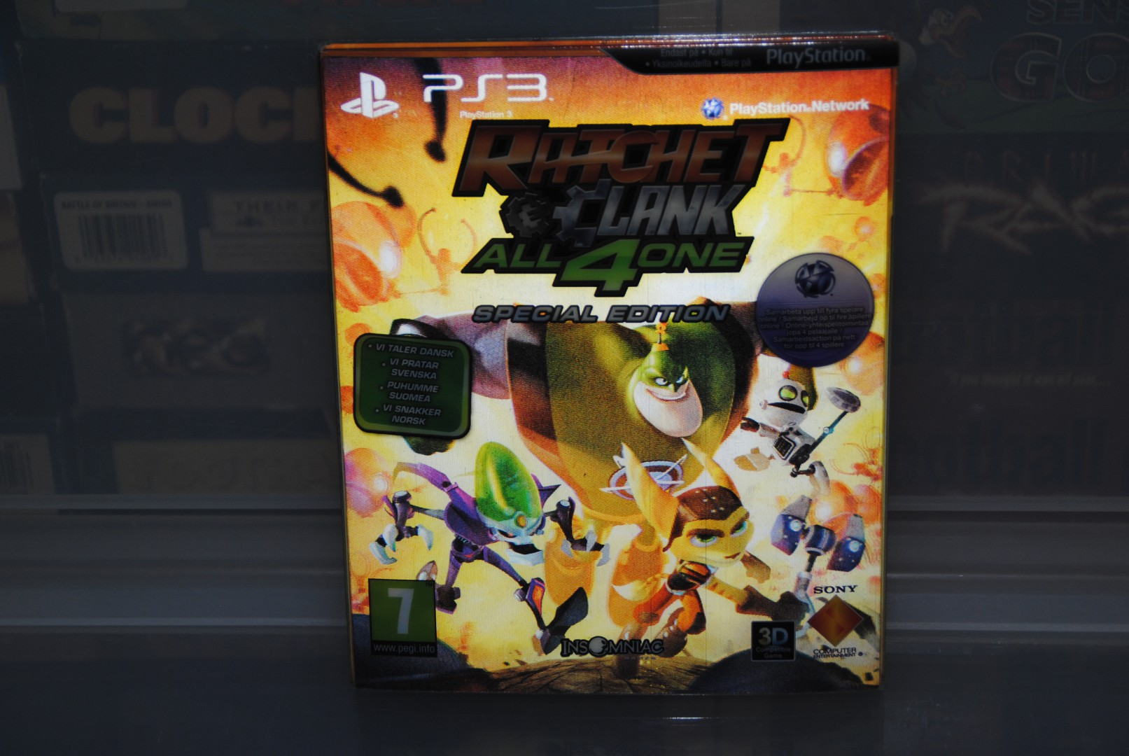Ratchet & Clank: All 4 One PS3 Front