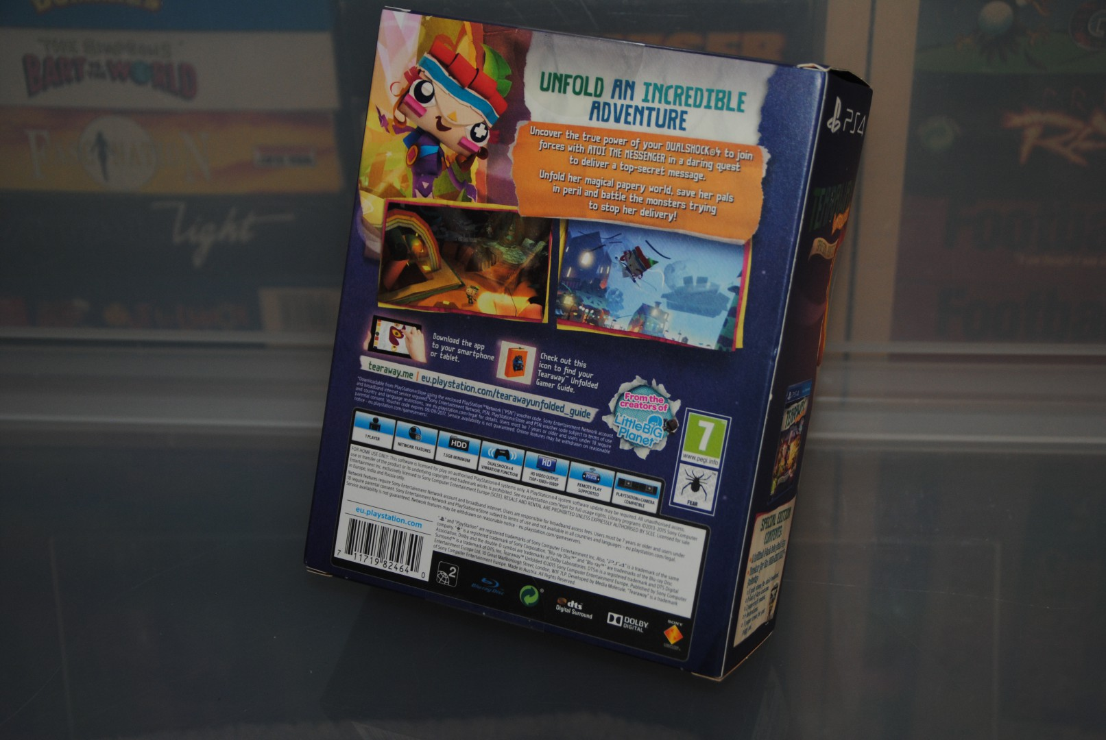 Tearaway Unfolded Special Edition Paperbox - Back