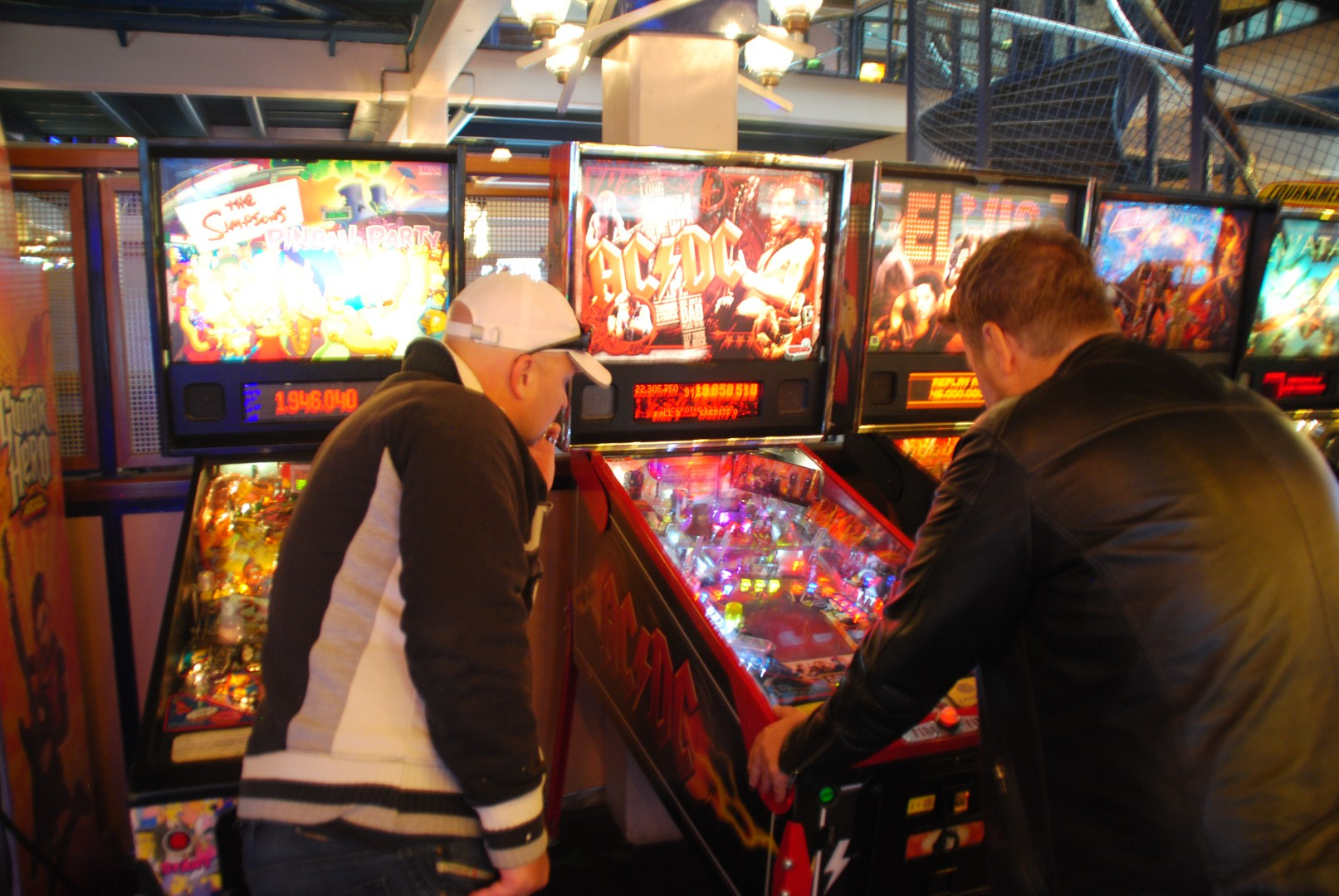 AC/DC PINBALL and The Simpsons Pinball / At Liseberg Fun Fair