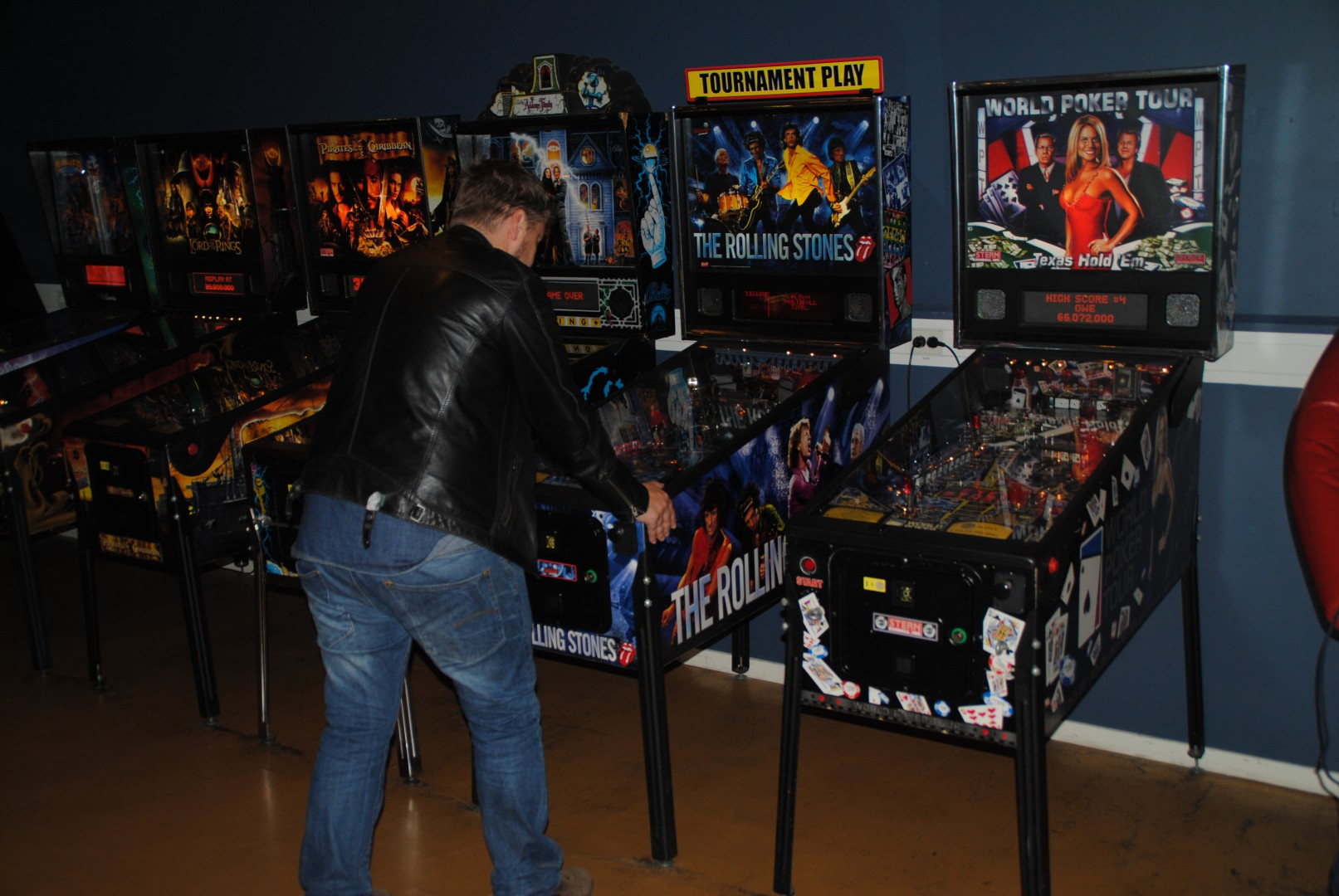 The Rolling Stones and World Poker Tour Pinball games / At Liseberg Fun Fair