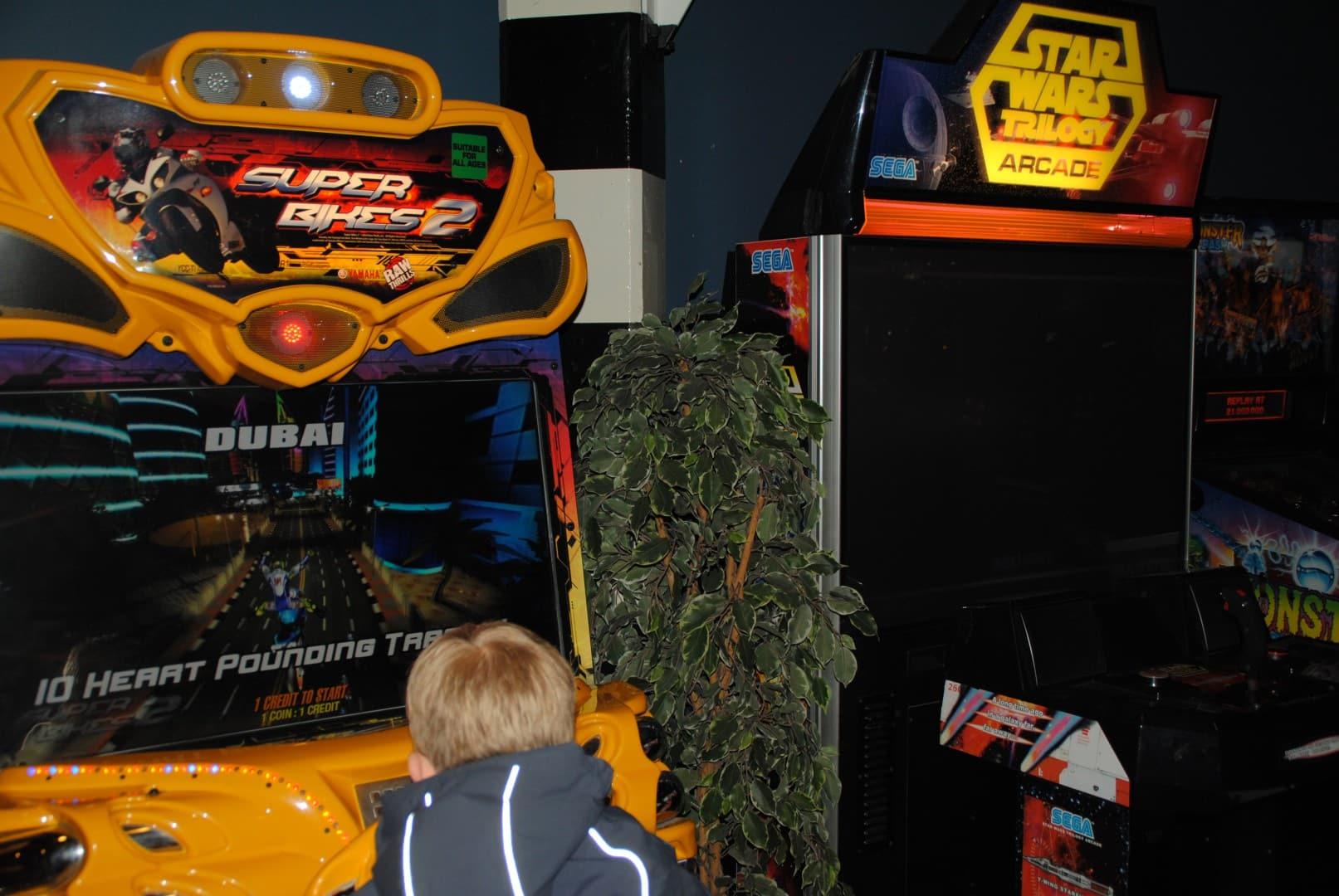 Super bikes 2 and STAR WARS TRILOGY Arcade / At Liseberg Fun Fair